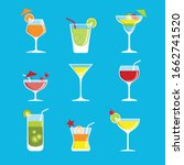 alcohol drinks and cocktails... | Shutterstock .eps vector #1662741520