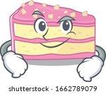 cool strawberry slice cake... | Shutterstock .eps vector #1662789079