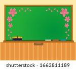 blackboard vector illustration .... | Shutterstock .eps vector #1662811189