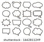 set of various speech bubbles.   Shutterstock .eps vector #1662811249