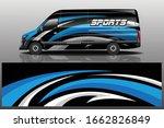 van car decal wrap design vector | Shutterstock .eps vector #1662826849