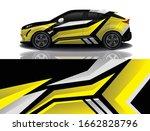 suv car decal wrap design vector | Shutterstock .eps vector #1662828796