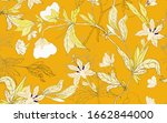 delicate white floral ornament...   Shutterstock .eps vector #1662844000