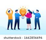 team work collaboration...   Shutterstock .eps vector #1662856696