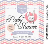 baby shower invitation | Shutterstock .eps vector #166288733