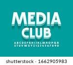 vector stylish logo media shop. ... | Shutterstock .eps vector #1662905983