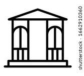 gazebo furniture icon. outline...   Shutterstock .eps vector #1662910360