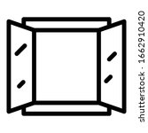 Open Home Window Icon. Outline...