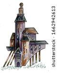 steampunk architecture.... | Shutterstock . vector #1662942613
