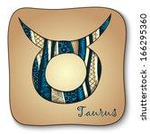 zodiac sign   taurus. vector...