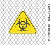 biohazard icon. warning sign of ... | Shutterstock .eps vector #1662961066