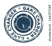 game changer business stamp... | Shutterstock . vector #166297289