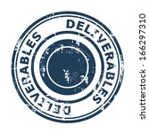deliverables concept stamp... | Shutterstock . vector #166297310