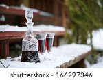 Decanter And Wineglasses Of Re...