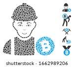 dot mosaic based on bitcoin... | Shutterstock .eps vector #1662989206