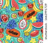 vector colorful pattern on the... | Shutterstock .eps vector #1662991729
