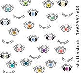 eye seamless pattern. vector... | Shutterstock .eps vector #1662992503