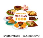 mexican cuisine  mexico and... | Shutterstock .eps vector #1663003090