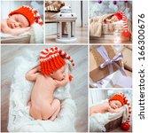 Collage Of A Christmass Newborn ...