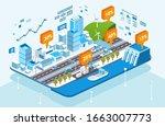 isometric city infrastructure...   Shutterstock .eps vector #1663007773