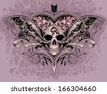 skull heart on a dusty mauve...