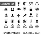 collection of warning signs on... | Shutterstock .eps vector #1663062160