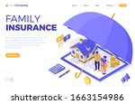 property house family finance... | Shutterstock .eps vector #1663154986