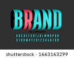 three dimensional style font... | Shutterstock .eps vector #1663163299