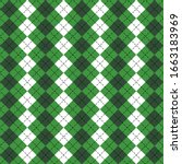 st. patricks day argyle plaid.... | Shutterstock .eps vector #1663183969