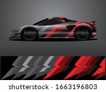 sport car decal graphic wrap...   Shutterstock .eps vector #1663196803