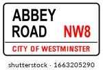 the street name sign from abbey ... | Shutterstock .eps vector #1663205290