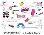 cute teenager girls pattern...   Shutterstock .eps vector #1663215679