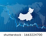 image of falling chinese stock... | Shutterstock . vector #1663224700