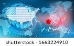 image of stock price decline... | Shutterstock . vector #1663224910