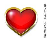 heart icon  button | Shutterstock .eps vector #166324910