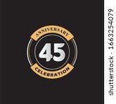 45 years anniversary... | Shutterstock .eps vector #1663254079