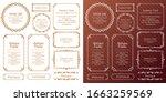 royal monogram frame. hand... | Shutterstock .eps vector #1663259569