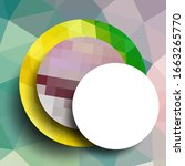geometric frame from circles ... | Shutterstock .eps vector #1663265770