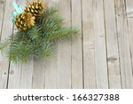 pine twig christmas decoration... | Shutterstock . vector #166327388