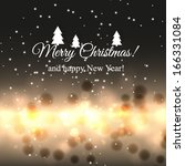 merry christmas and happy new... | Shutterstock .eps vector #166331084