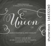 wedding invitation vintage... | Shutterstock .eps vector #166332260