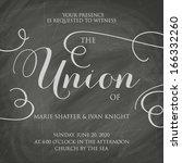wedding invitation vintage...   Shutterstock .eps vector #166332260