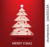 christmas tree. vector... | Shutterstock .eps vector #166333154