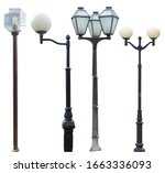 A Set Of High Street Lamps