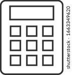 calculator linear icon. vector...