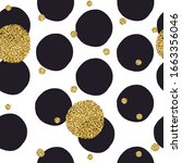 black dots seamless pattern and ... | Shutterstock .eps vector #1663356046