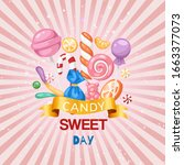 candy sweet day confectionery... | Shutterstock .eps vector #1663377073