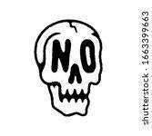 No Skull Icon Logo Black White