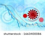 image of stock price decline... | Shutterstock . vector #1663400086
