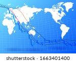 image of stock price decline | Shutterstock . vector #1663401400